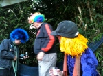 Bridget Spicer creator of Squid Row comics is in the blue wig.  She's really nice.
