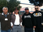 Jacob Ruelas at left with his lifelong friends at the Soledad Car and Culture Fair.